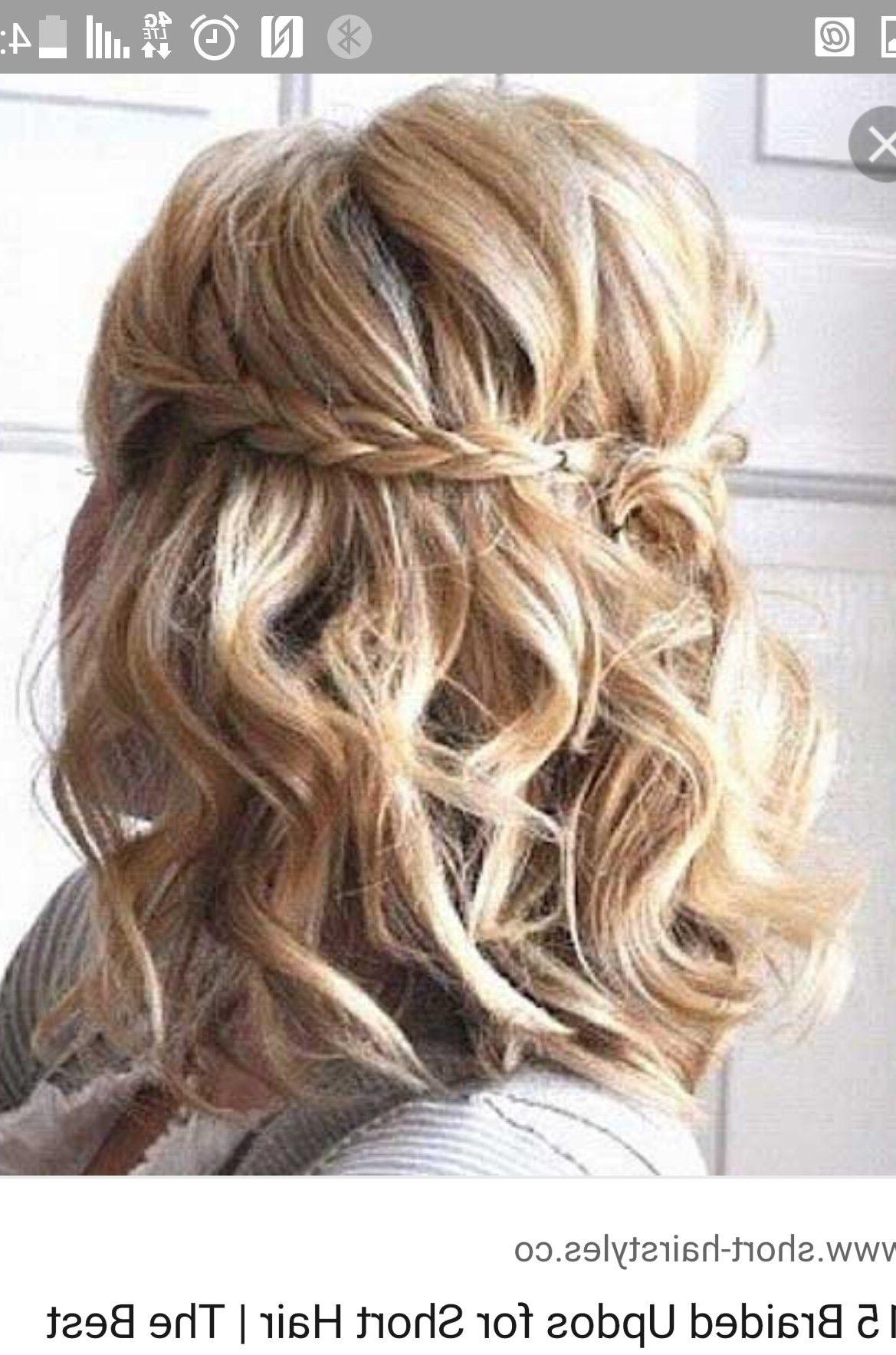 Pinjillian Gallogly On Hair   Pinterest   Hair Style, Bridesmaid Pertaining To Homecoming Short Hair Styles (View 13 of 25)