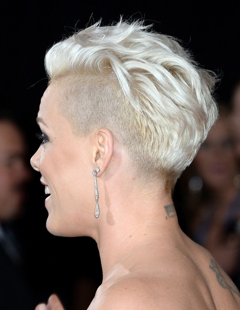 Pink Photos Photos: Arrivals At The Grammy Awards — Part 3 In 2018 For Pink Short Haircuts (View 5 of 25)