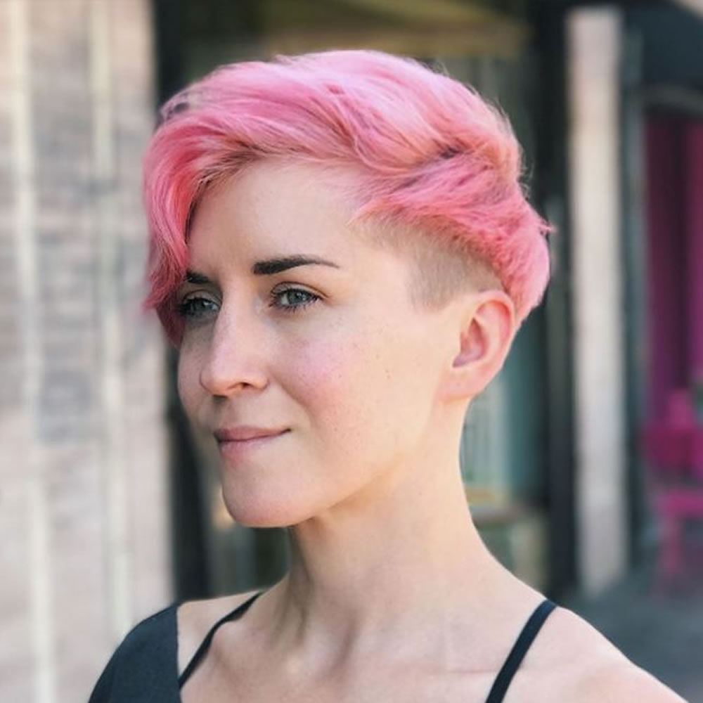 Pink Undercut Short Hairstyles 2018 2019 – Hairstyles With Pink Short Hairstyles (View 14 of 25)