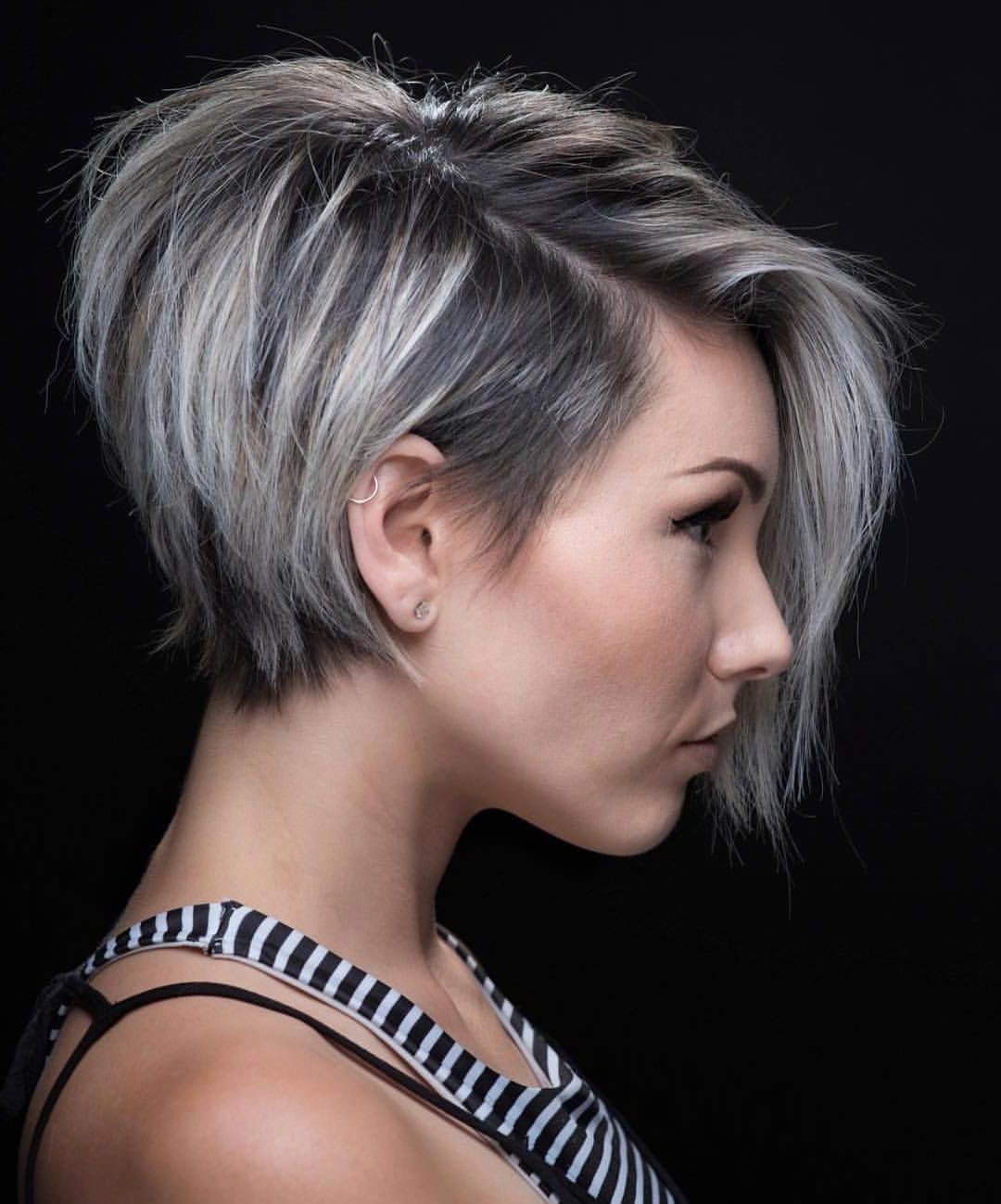 Pinkaleigh Bishop On Hair Inspo | Pinterest | Hair, Short Hair Intended For Asymmetrical Short Hairstyles (View 3 of 25)