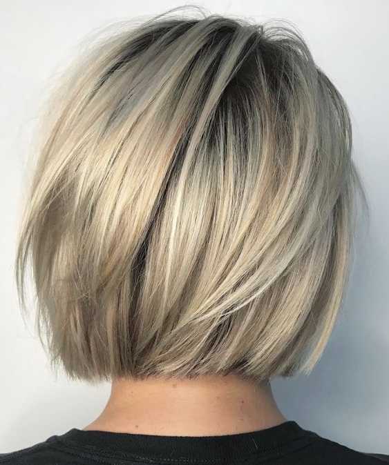 Pinkristin Bee On Hair Cut | Pinterest | Hair Style, Haircuts With Dynamic Tousled Blonde Bob Hairstyles With Dark Underlayer (View 3 of 25)
