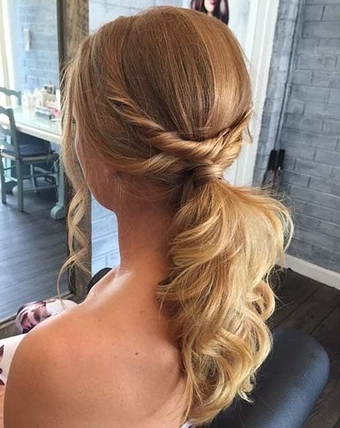 Pinkyriaki Papapericleous On 07 Hair | Pinterest | Ponytail For Twisted And Pinned Blonde Ponytails (View 3 of 25)