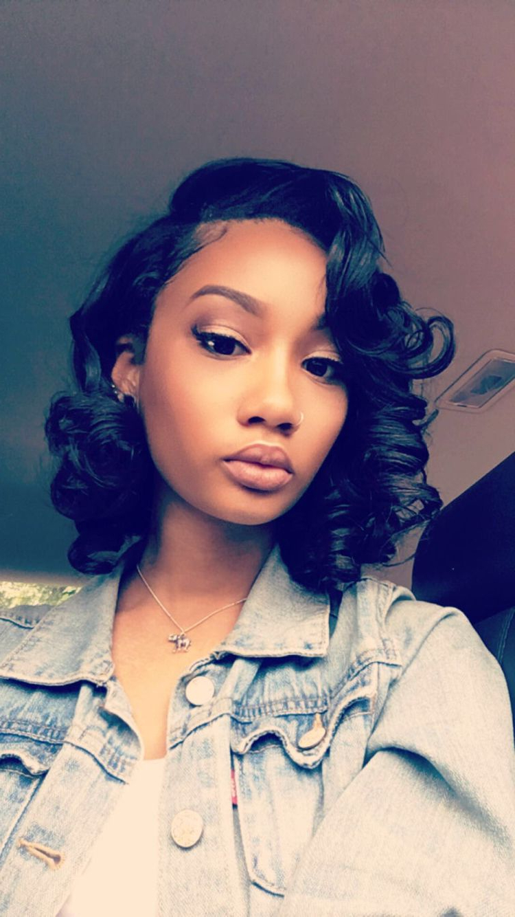 Pinlil' Ky?? On Hair Ideas | Pinterest | Hair, Hair Styles And With Regard To Bob Short Hairstyles For Black Women (View 14 of 25)