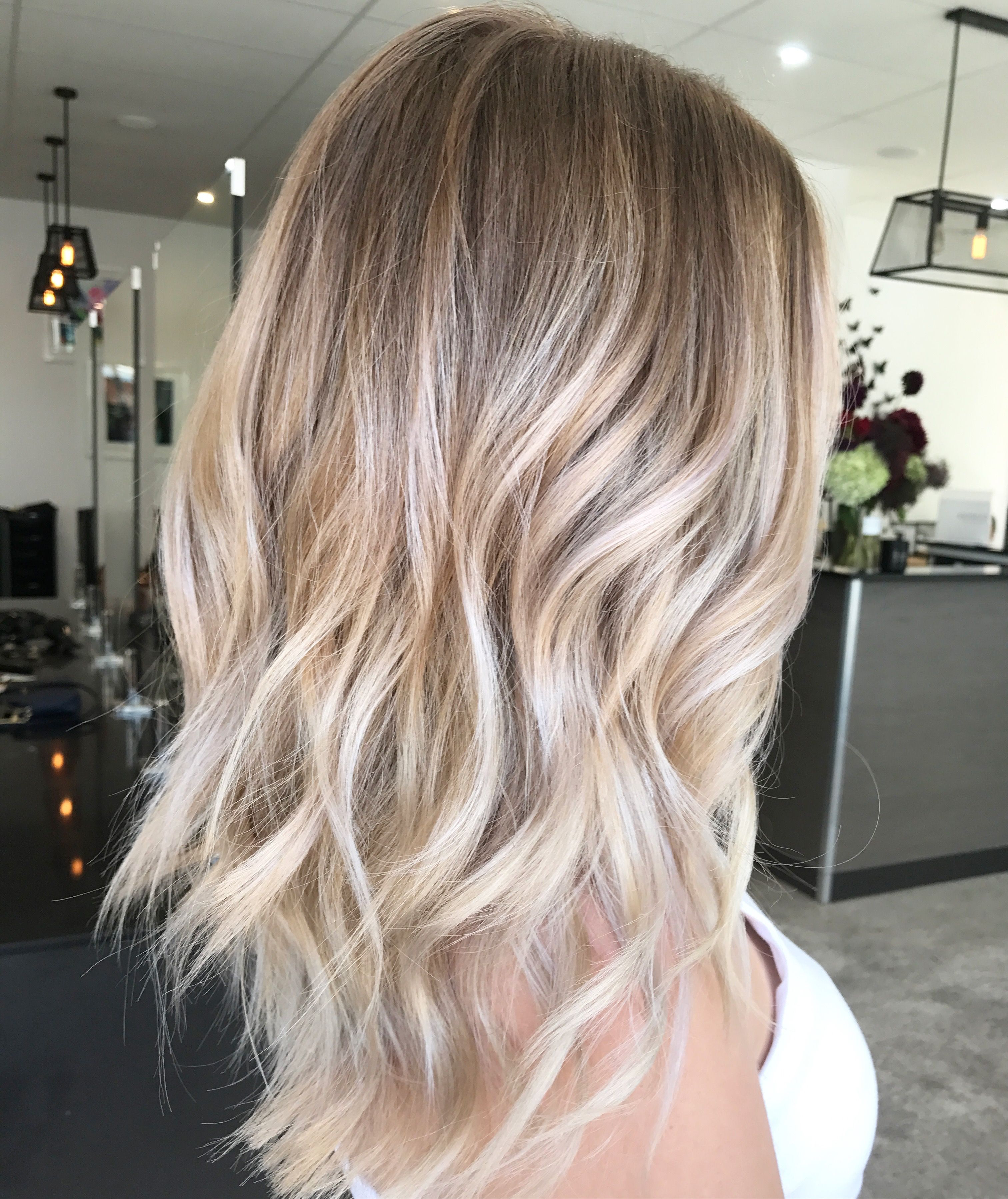 Pinlynn Taylor On Casual Hairstyles In 2018 | Pinterest | Hair Intended For Angelic Blonde Balayage Bob Hairstyles With Curls (View 2 of 25)