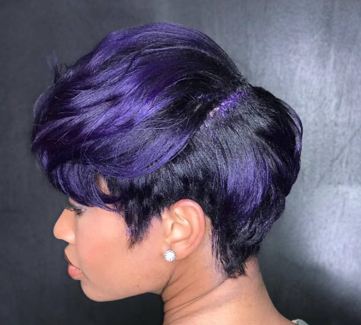 Pinmildrin Noel On Short Hair Styles | Pinterest | Hair Style Pertaining To Purple And Black Short Hairstyles (View 21 of 25)