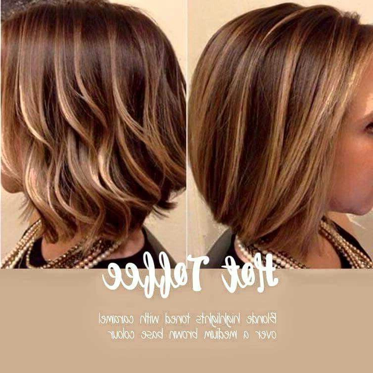 Pinrhonda Rohrer On My Style | Pinterest | Hair Coloring, Hair Throughout Layered Caramel Brown Bob Hairstyles (View 13 of 25)