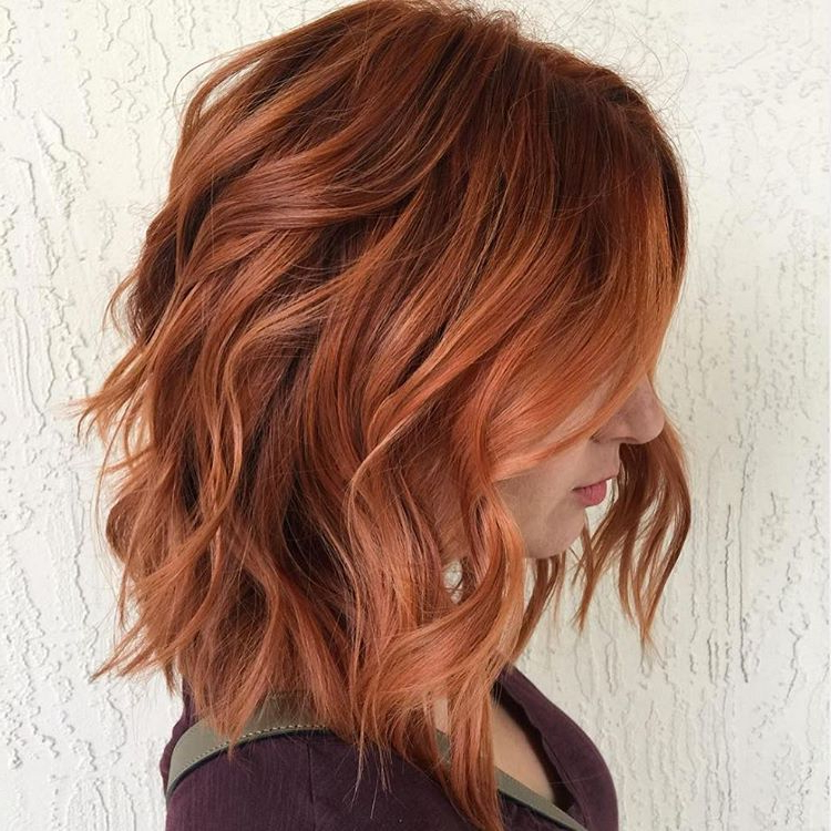 Pinsabrina Riggs On Beauty In 2018 | Pinterest | Hair, Hair With Burgundy And Tangerine Piecey Bob Hairstyles (View 17 of 25)