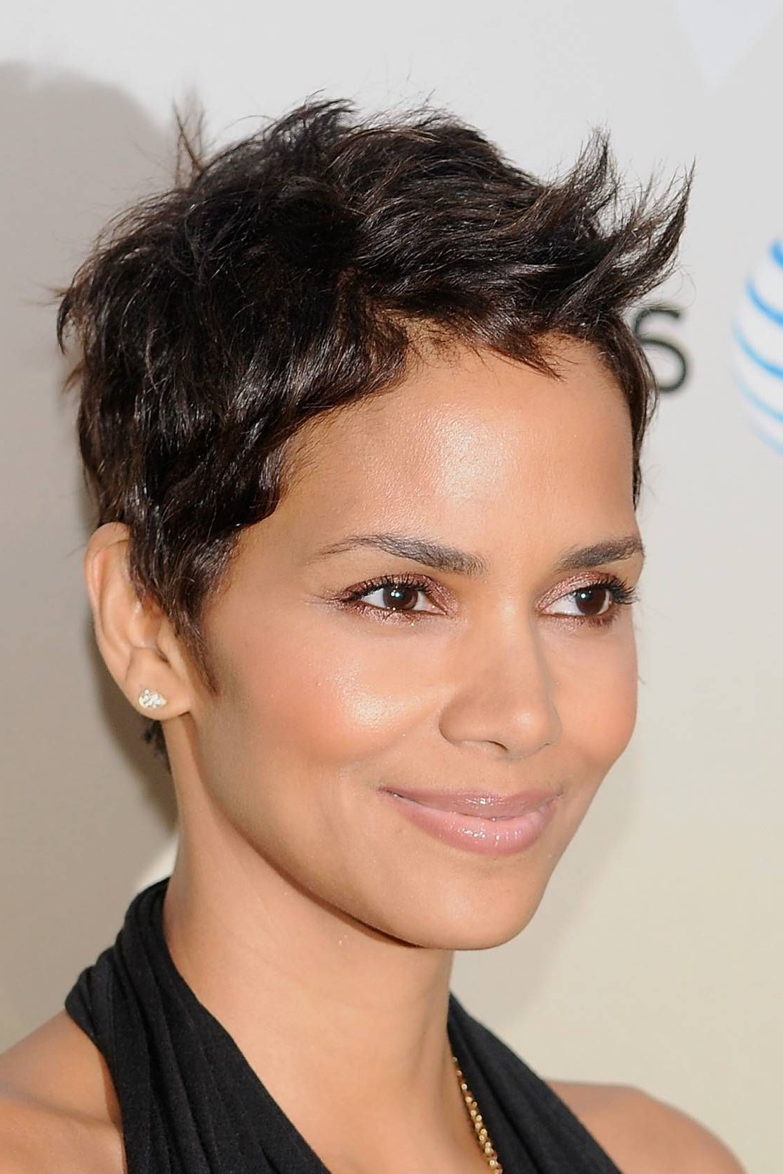 Pinshekeese Deville On Inspiration   Pinterest   Face, Halle Throughout Super Short Hairstyles For Black Women (View 12 of 25)
