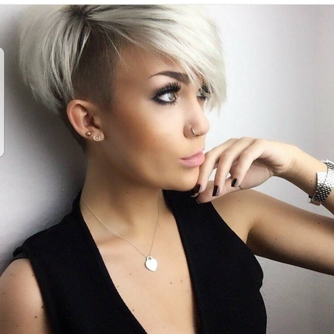 Pinstella Furlong On Hairsytles | Pinterest | Hair, Short Hair Regarding Short Haircuts With One Side Shaved (View 16 of 25)