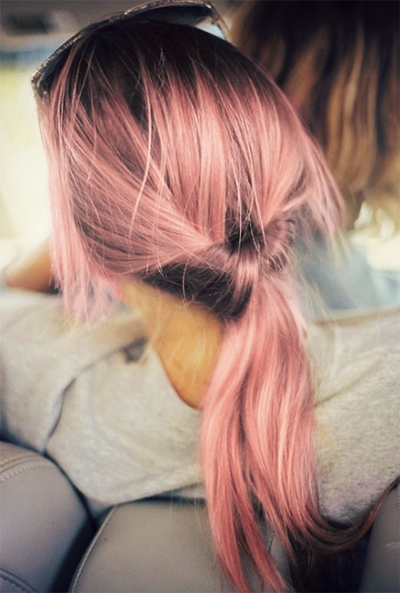 Pintrisha Espinoza On Pastels | Pinterest | Girl Hair, Pink Hair For Twisted And Pinned Blonde Ponytails (View 18 of 25)
