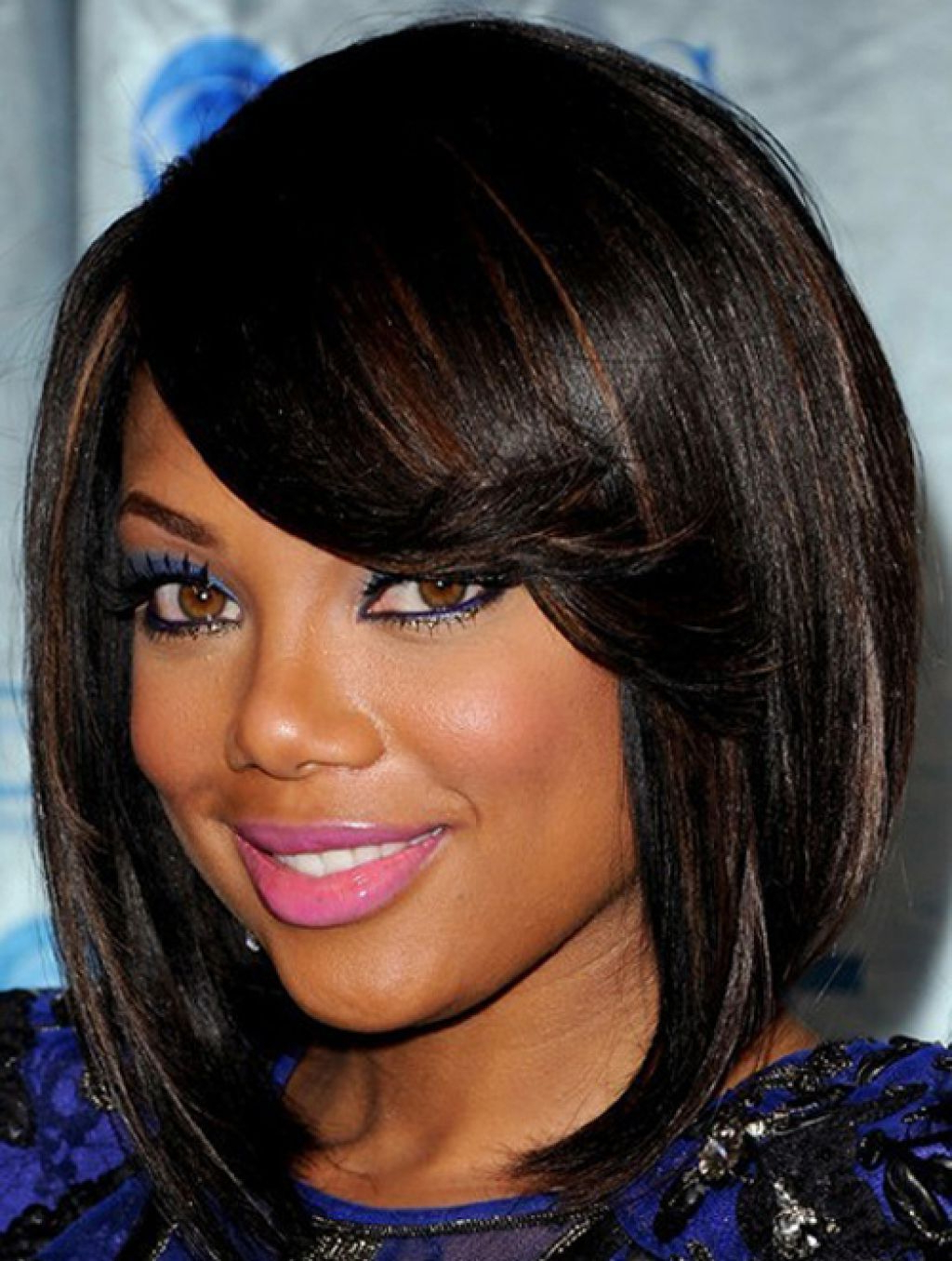 Pinwalid On Makeup   Pinterest   Hair Styles, Hair And Short Intended For Short Hairstyles For Round Faces African American (View 9 of 25)