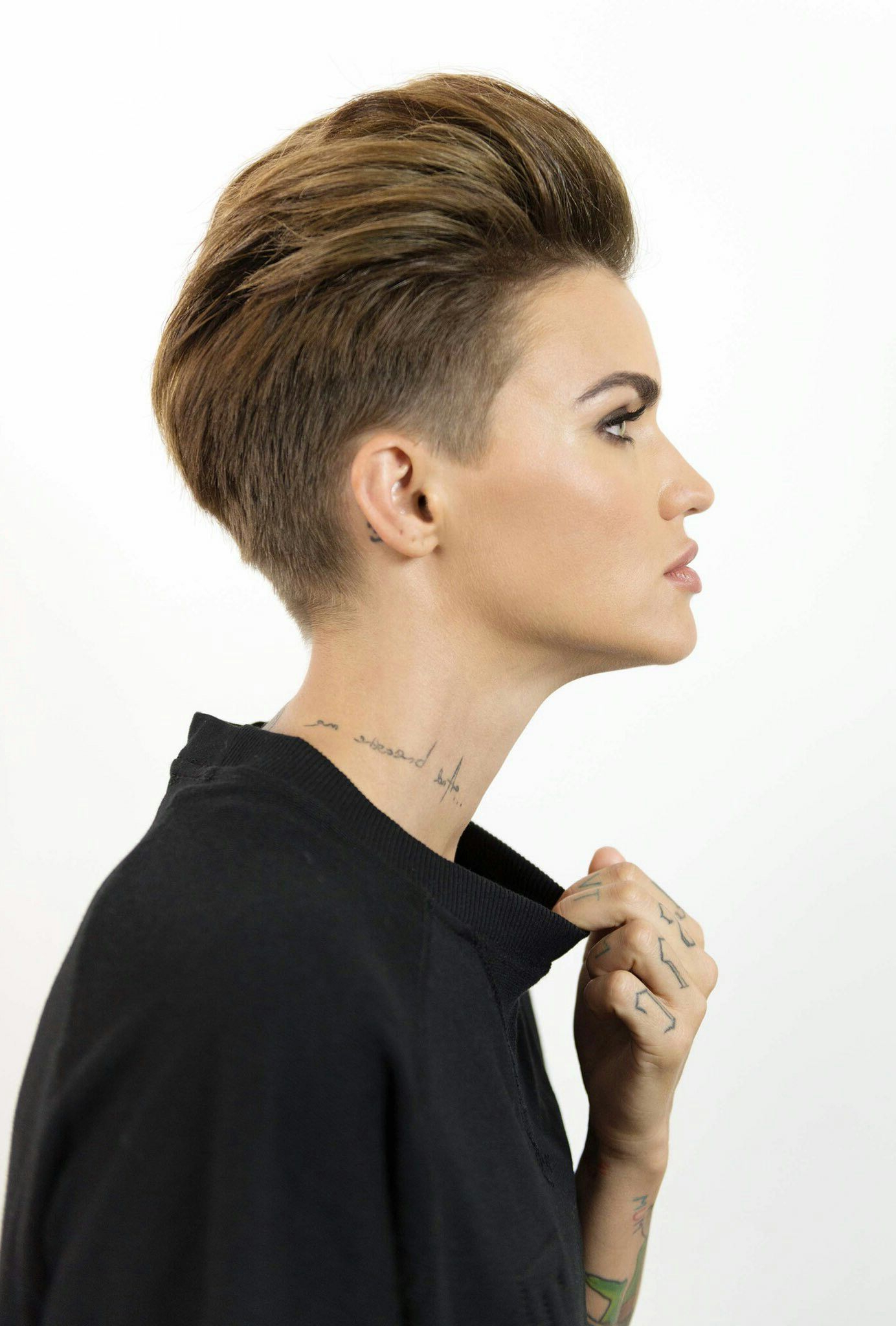 Pinwhittannie Harber On Hair | Pinterest | Ruby Rose, Hair Within Ruby Rose Short Hairstyles (View 8 of 25)