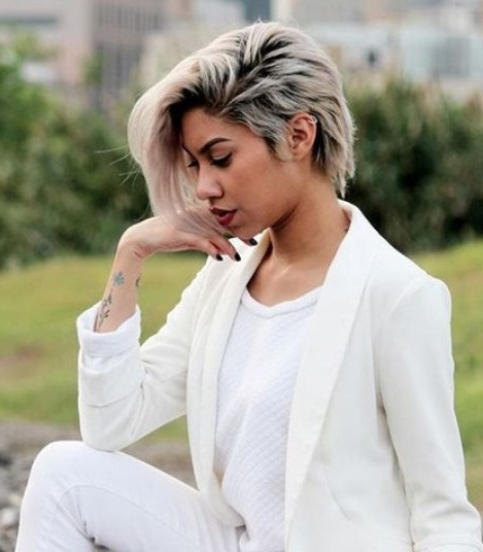 Pixie Archives » Page 3 Of 6 » Blonde Hairstyles Gallery 2018 For Black And Ash Blonde Pixie Bob Hairstyles (View 24 of 25)