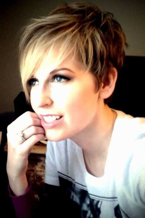 Pixie Haircut With Long Bangs   Hair   Pinterest   Short Hair Styles With Regard To Disheveled Blonde Pixie Haircuts With Elongated Bangs (View 7 of 25)