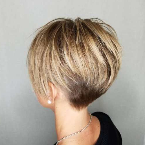 Pixie Haircuts For Thick Hair – 50 Ideas Of Ideal Short Haircuts In Intended For Bronde Balayage Pixie Haircuts With V Cut Nape (View 22 of 25)