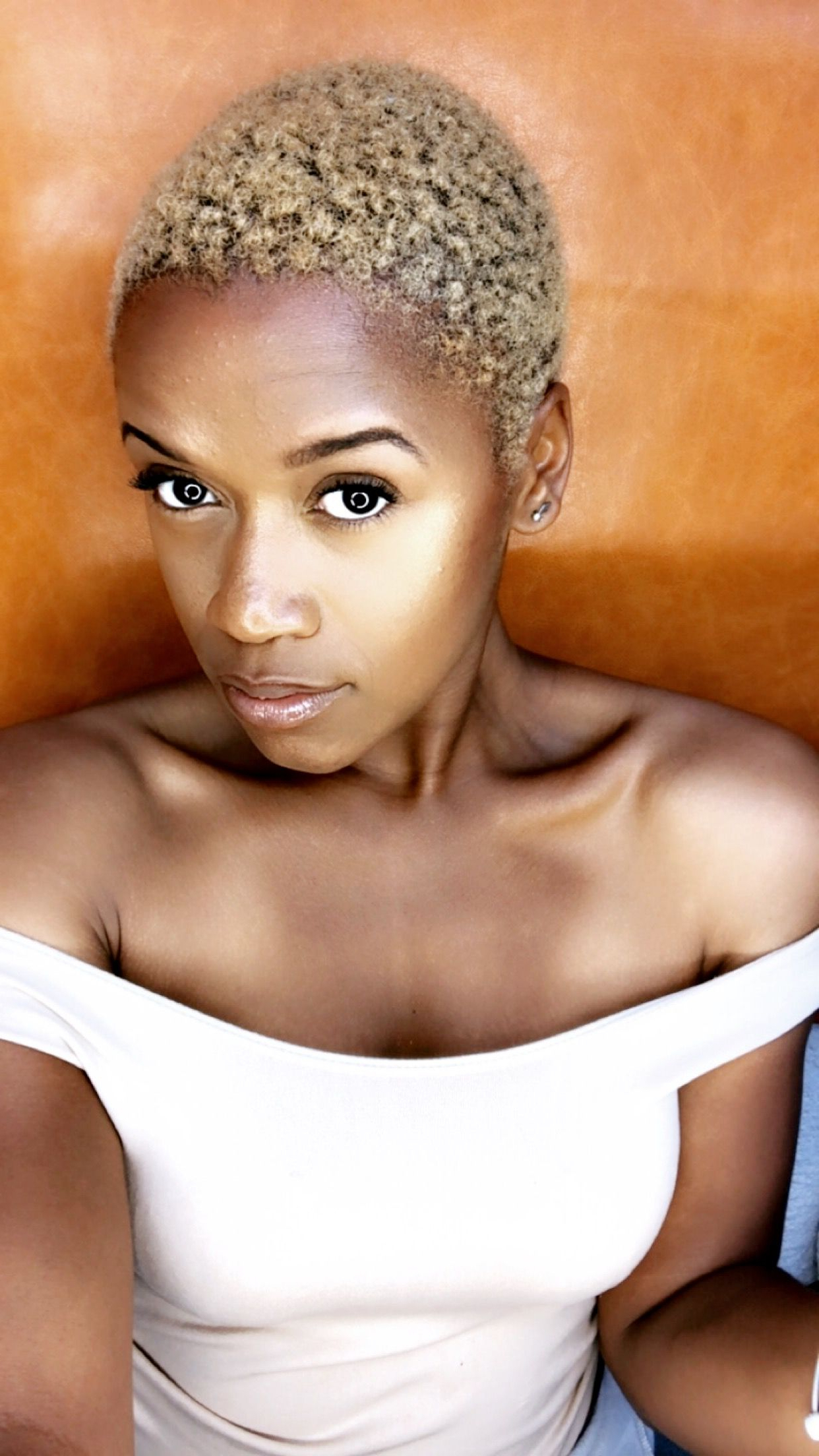 Platinum Blonde Short Cut On Black Woman Blonde Twa | Hair Lovee In With Platinum Blonde Short Hairstyles (View 24 of 25)