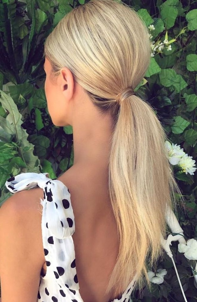 Playful Ponytails | Styling The Classic Wedding Ponytail – Tania Intended For Long Classic Ponytail Hairstyles (View 21 of 25)