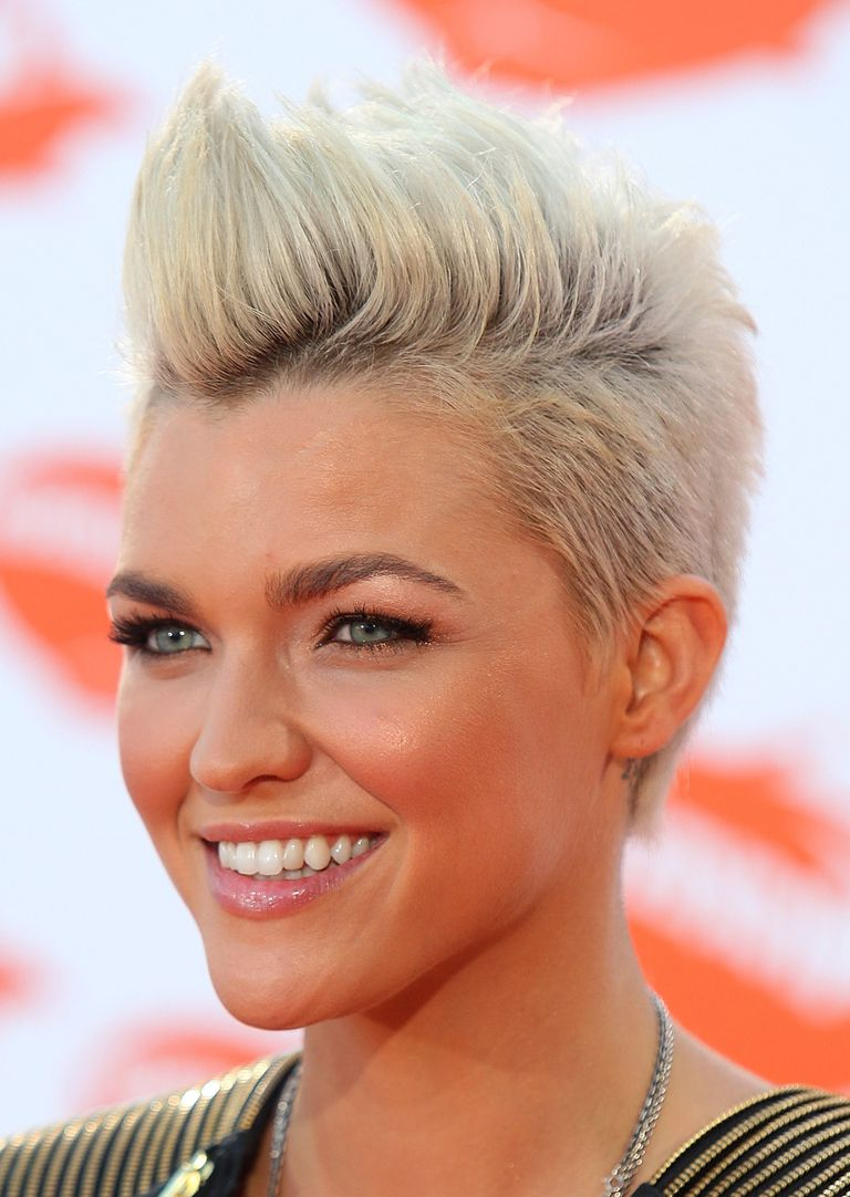 """Pompadour & Quiff Hairstyles: Amazing """"faux Hawks"""" With Ruby Rose Short Hairstyles (View 9 of 25)"""