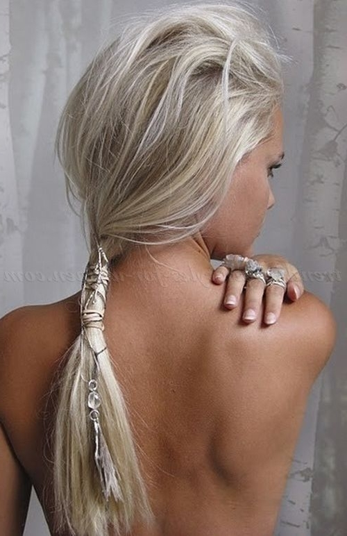 Ponytail Hairstyles, Braided Ponytails, Curly Ponytails, Side For Blonde Braided And Twisted Ponytails (View 20 of 25)