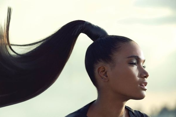 Ponytail Hairstyles For Black Hair, Black Ponytail With Bangs Pertaining To Sculpted And Constructed Black Ponytail Hairstyles (View 14 of 25)
