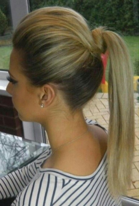 Ponytail With Bump & Twist | Hair | Pinterest | Hair, Hair Styles Within Twisted And Pinned Blonde Ponytails (View 13 of 25)