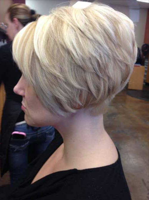 Popular Stacked Bob Haircut Pictures | Short Hairstyles 2017 – 2018 Within Short Bob Hairstyles With Tapered Back (View 18 of 25)