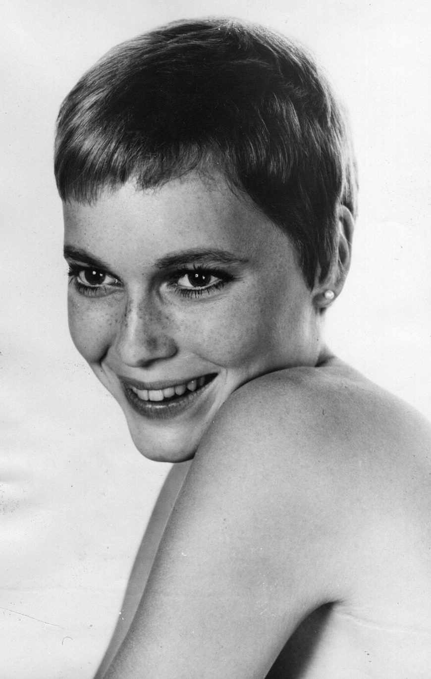Portrait Of Mia Farrow, 1960S | Model Behavior | Pinterest | Hair Within 1960S Short Hairstyles (View 20 of 25)