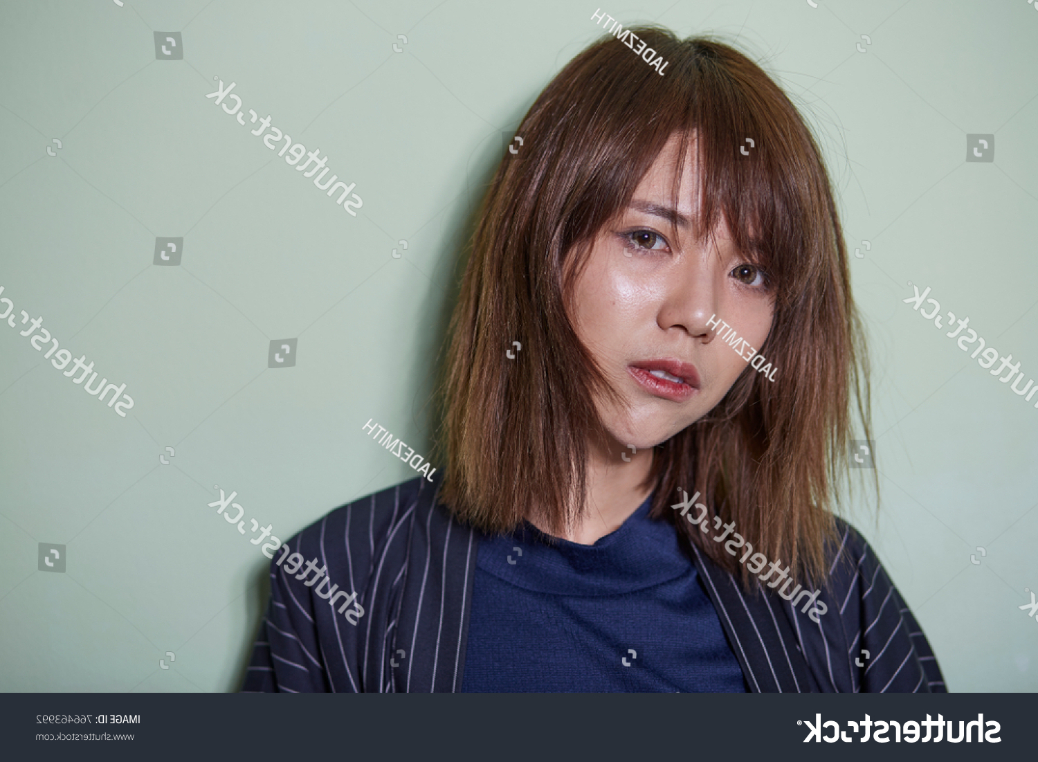 Portrait Short Hair Asian Girl On Stock Photo (Edit Now) 766463992 With Short Hairstyle For Asian Girl (View 10 of 25)