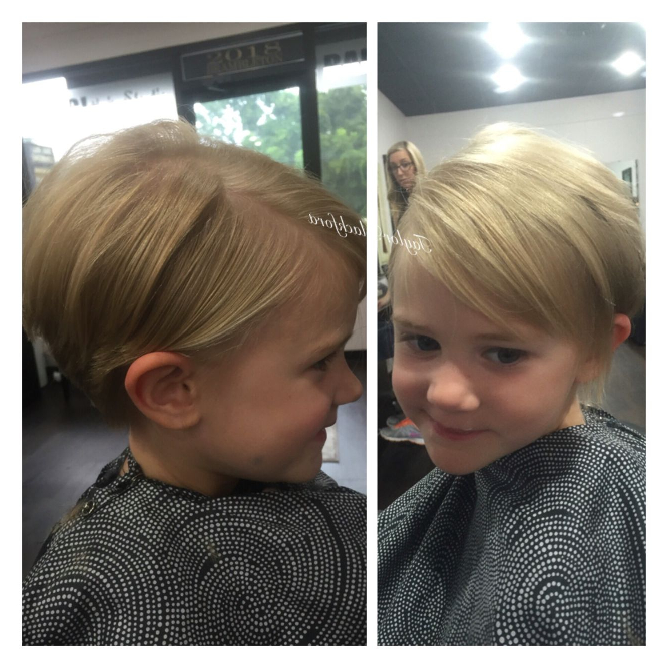 Precious Pixie Cut On This Little Girl! Perfect Haircut For Fine Pertaining To Little Girl Short Hairstyles Pictures (View 11 of 25)