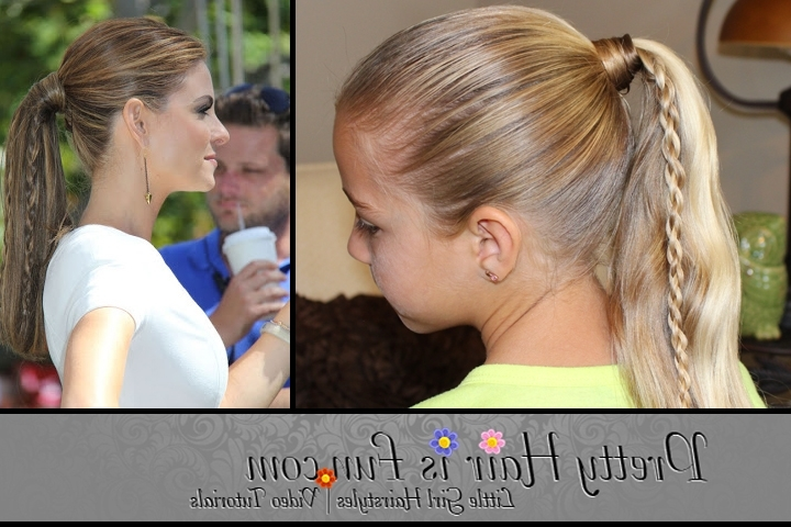 Pretty Hair Is Fun: Twin Braid Ponytail – Pretty Hair Is Fun – Girls With Twin Braid Updo Ponytail Hairstyles (View 25 of 25)