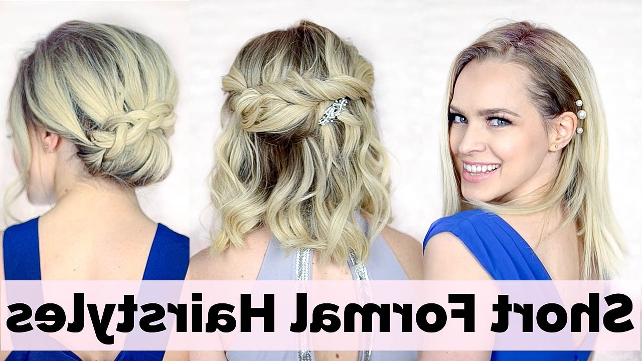 Prom Hairstyles For Short Hair – Youtube Intended For Short Hairstyles For Prom (View 8 of 25)