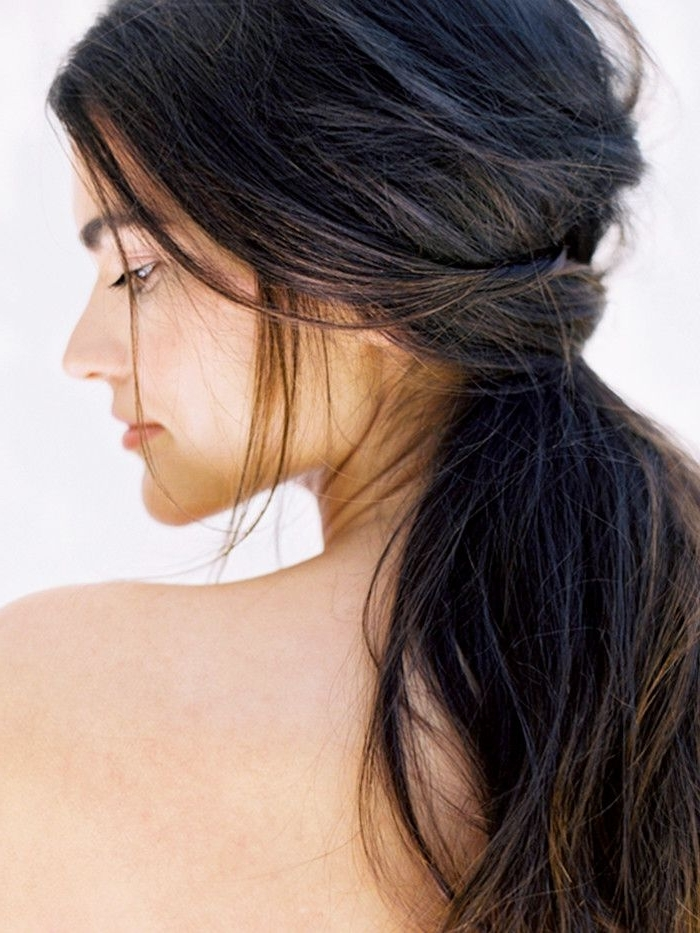 Proof Low Ponytails Don't Have To Be Boring   Byrdie Inside Intricate And Messy Ponytail Hairstyles (View 22 of 25)