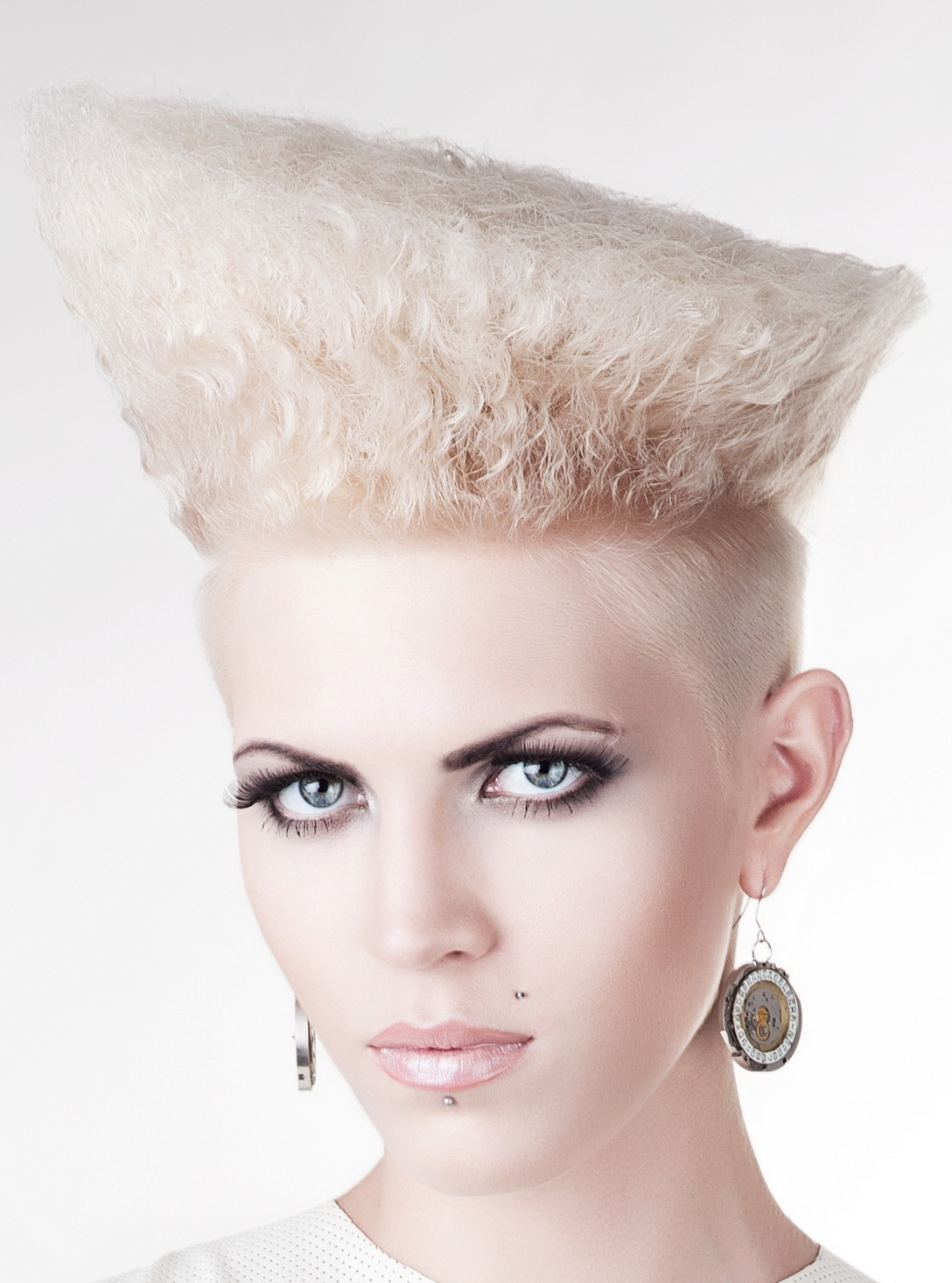 Punk Curly Hair Style With Undercut Major Guile Inspired Look 2018 Throughout Undercut Hairstyles For Curly Hair (View 15 of 25)