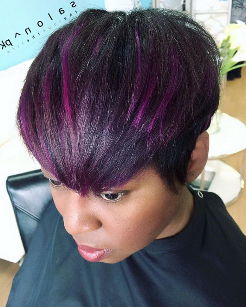 Purple Pixie Via @salonpk – Black Hair Information In Purple And Black Short Hairstyles (View 16 of 25)