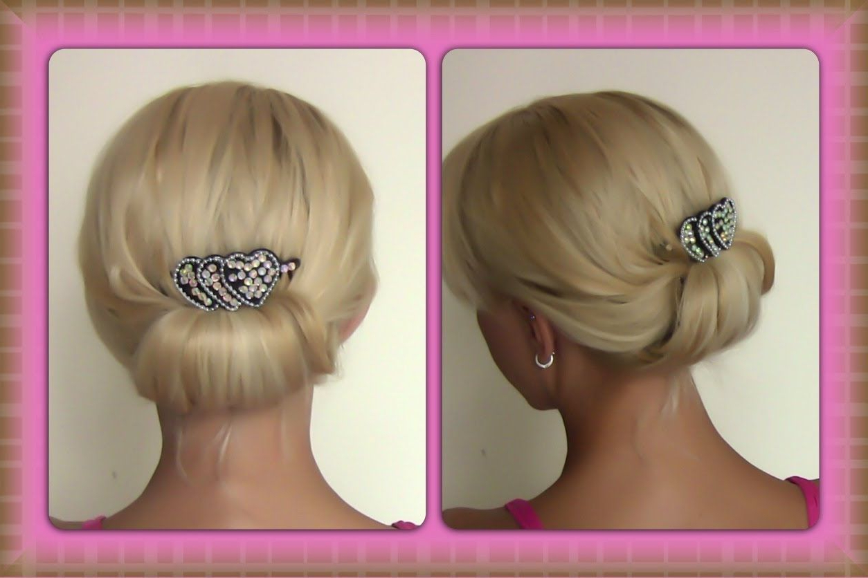 Quick And Simple Evening Updo | Easy Evening Updo | Special Occasion For Short Hairstyles For Special Occasions (Gallery 25 of 25)