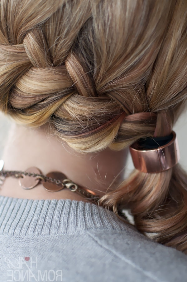 Quick Chic Side Ponytail French Braid Hairstyle For Long Hair Regarding Reverse Braid And Side Ponytail Hairstyles (View 4 of 25)