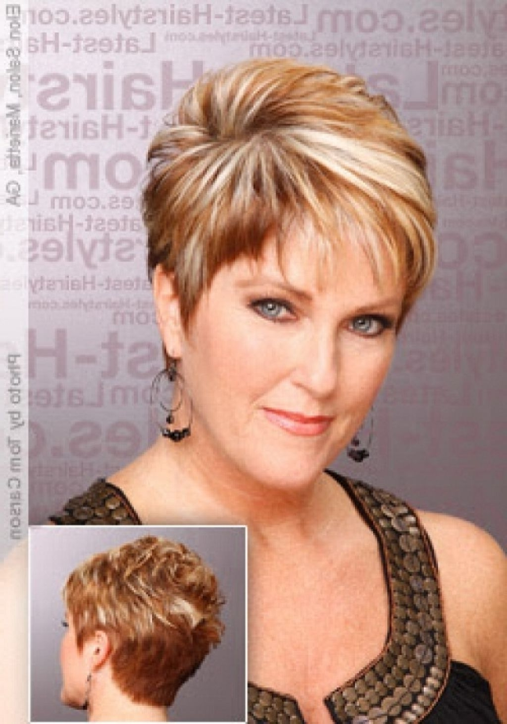 Quick Hairstyles For Short Hairstyles For Round Faces And Thick Hair For Medium Short Haircuts For Thick Hair (Gallery 21 of 25)