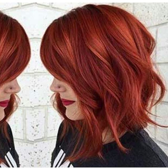 Readhead | Beauty | Pinterest | Cabello, Color De Pelo And Cabello Pertaining To Burgundy And Tangerine Piecey Bob Hairstyles (View 12 of 25)