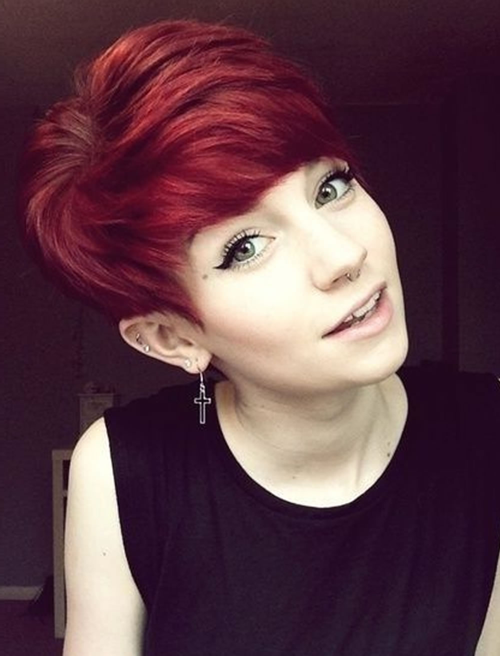 Red Hair Color 2018 Pixie Short Hairstyles – Hairstyles With Short Hairstyles For Red Hair (View 10 of 25)