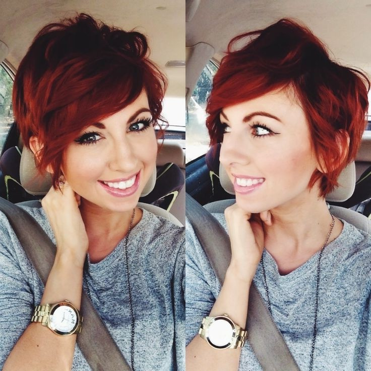 Red Hairstyles For Short Hair – Hair World Magazine In Messy Asymmetrical Pixie Bob Haircuts (View 16 of 25)