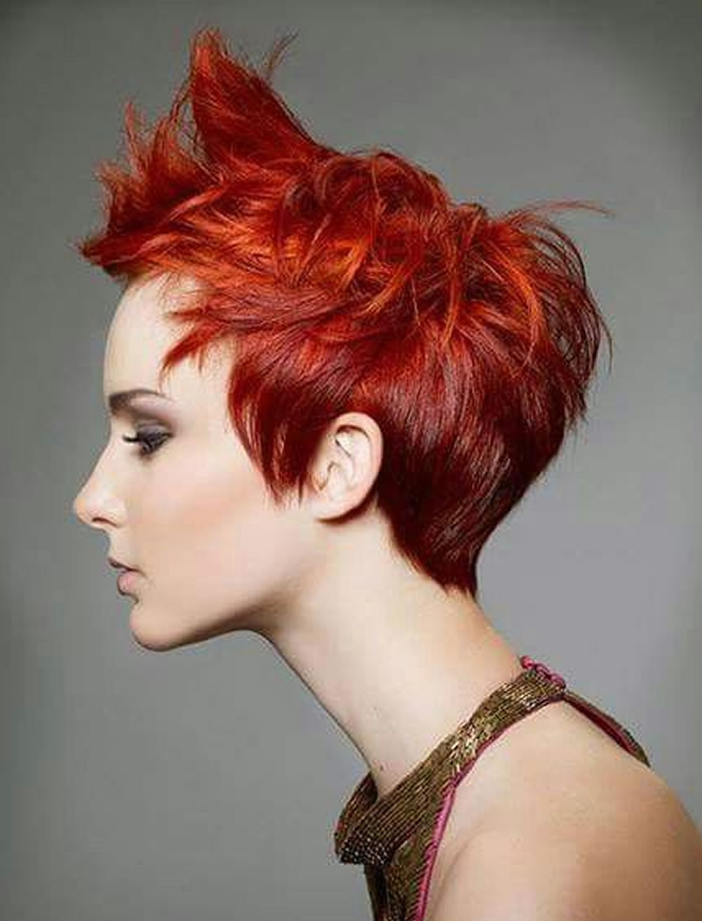 Red Messy Trend Short Hair For Young Girls – Hairstyles With Young Girl Short Hairstyles (View 20 of 25)