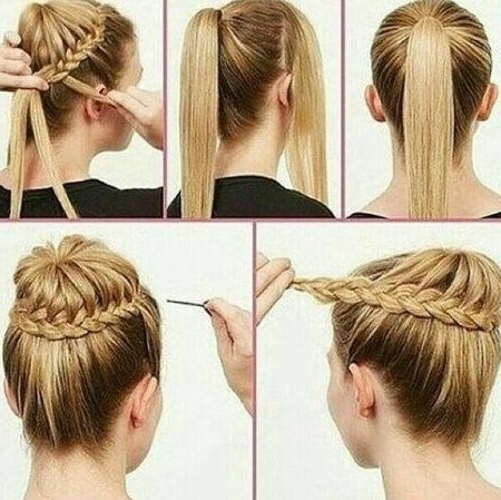 Regal Wedding Braid Bun Tutoiral#tutorial #braided #updo #howto With Regard To Regal Braided Up Do Ponytail Hairstyles (View 16 of 25)