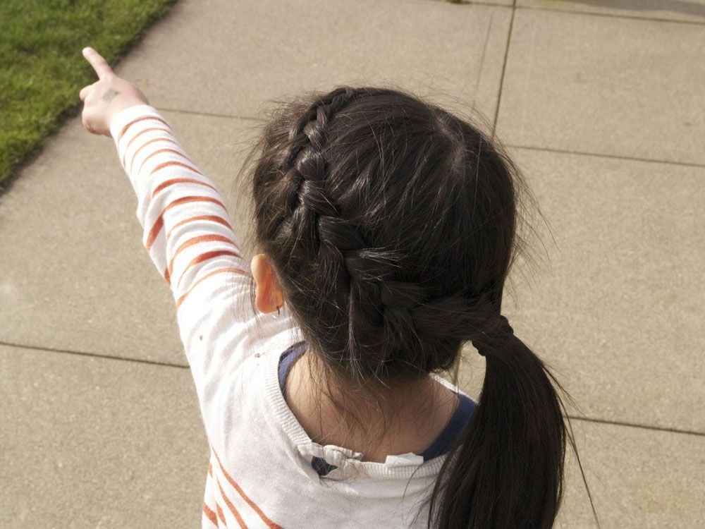 Reverse French Braid + Side Ponytail. On Naomi (View 3 of 25)