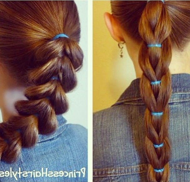 Reverse Pull Through Braid, Ponytail Hairstyle – Hairstyles For Pertaining To Reverse Braid And Side Ponytail Hairstyles (View 19 of 25)