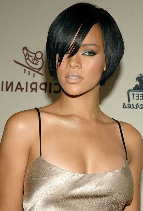 Rihanna Short Hairstyles Tapered Bob – Cool & Trendy Short Within Blonde Bob Hairstyles With Tapered Side (View 22 of 25)