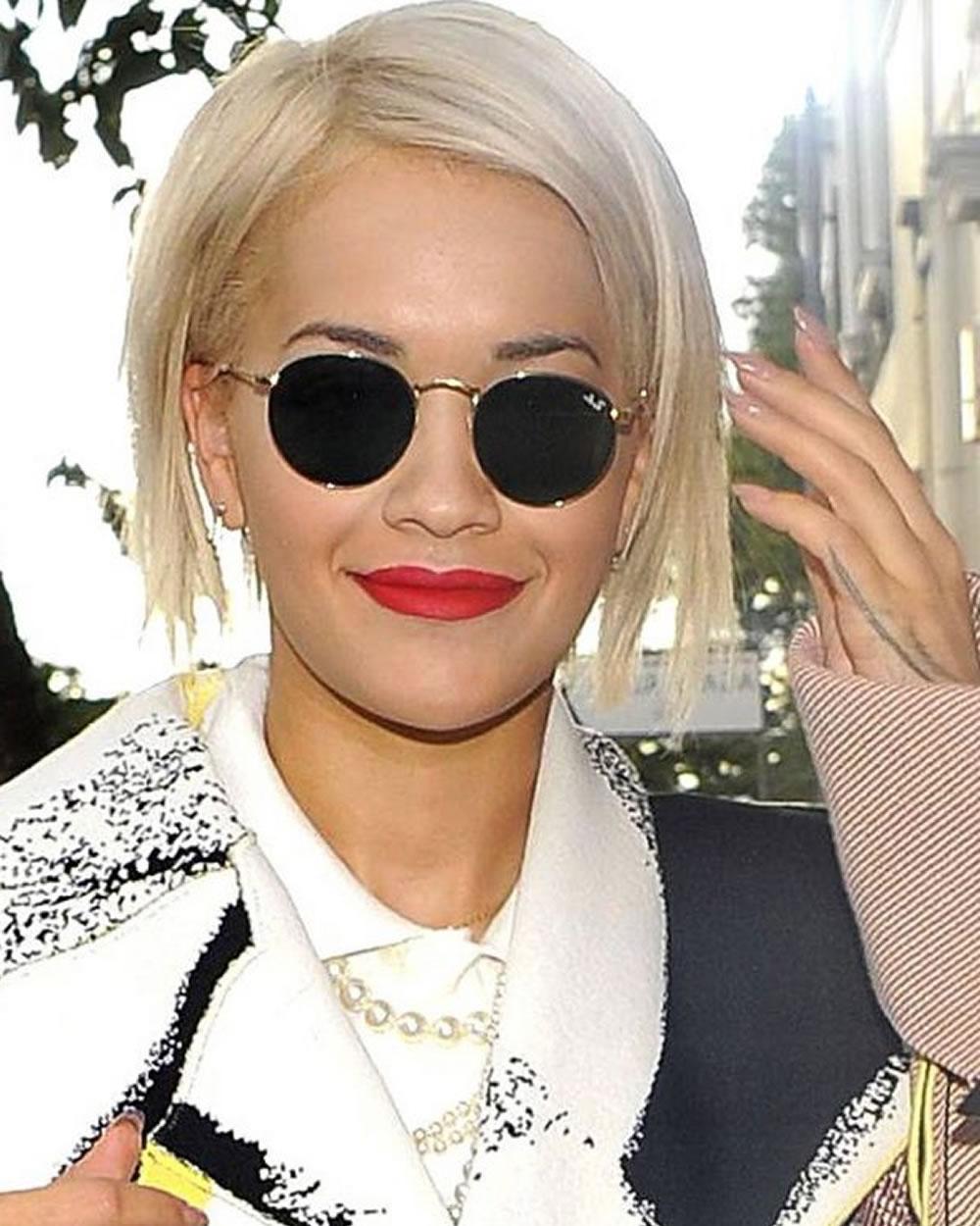 Rita Ora's Short Hairstyles (Pixie + Bob) For 2018 | Celebrity Within Rita Ora Short Hairstyles (View 6 of 25)