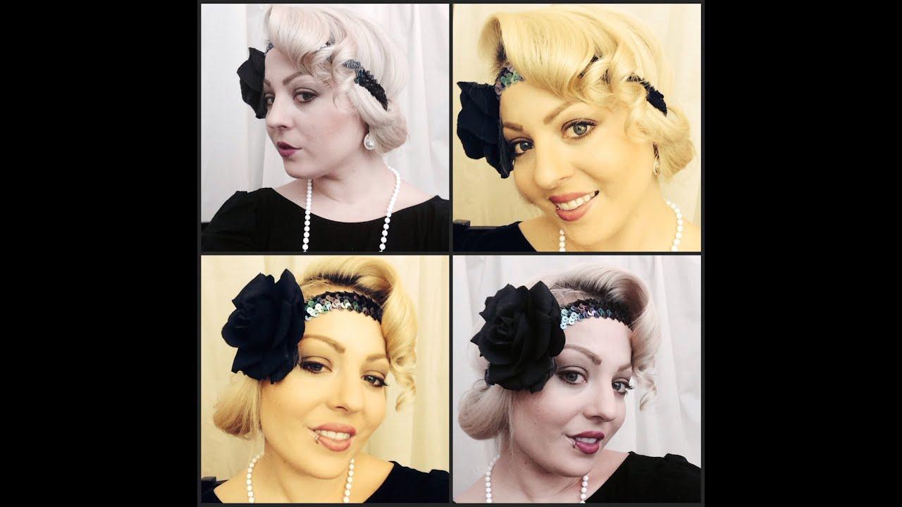 Roaring 20's Hair & Makeup Tutorial – Youtube In 20S Short Hairstyles (View 15 of 25)