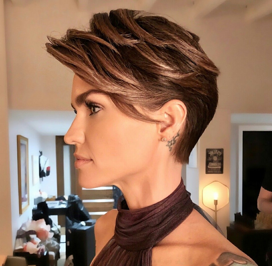 Ruby Rose Short Hairstyles Elegant Love This Cute Hair Dos Pinterest With Regard To Ruby Rose Short Hairstyles (View 16 of 25)