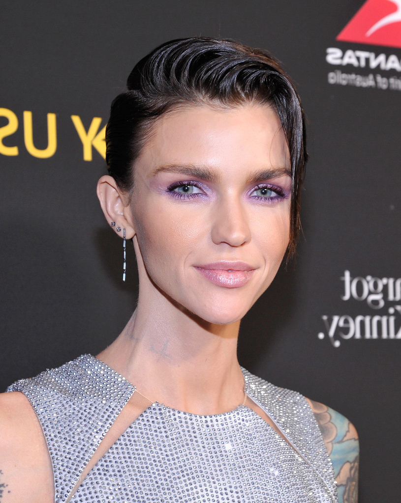 Ruby Rose Short Side Part – Ruby Rose Short Hairstyles Lookbook Pertaining To Ruby Rose Short Hairstyles (View 20 of 25)