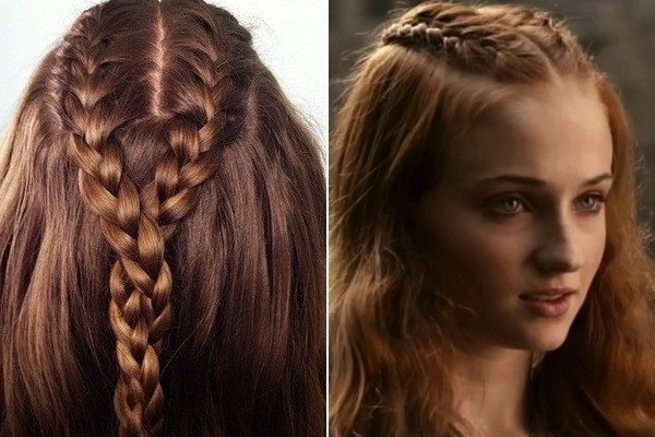 Sansa's Half Up Double French Braided Twist – 'game Of Thrones Within Double French Braid Crown Ponytail Hairstyles (View 25 of 25)